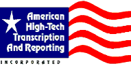 American High-Tech Transcription & Reporting, Logo